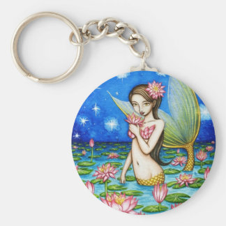 Starlight Lily Mermaid Keychain