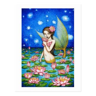Starlight Lily Mermaid Postcard
