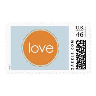 Starlight - Love Orange and Blue Postage