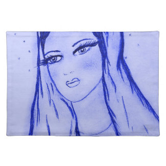Starlight Mary - Blue - Cloth Placemat