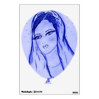 Starlight Mary - Blue - Dry Brush Wall Sticker