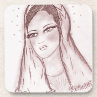 Starlight Mary in Cranberry Drink Coaster