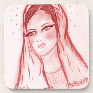 Starlight Mary - in Red Drink Coaster
