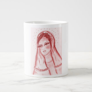 Starlight Mary - in Red Large Coffee Mug