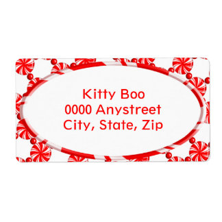 Starlight Mint Large Shipping Label