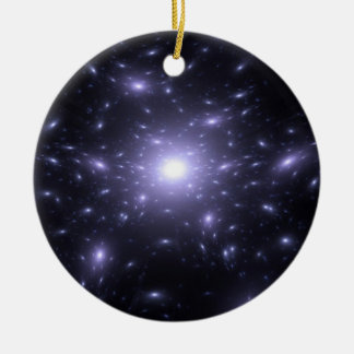Starlight Double-Sided Ceramic Round Christmas Ornament