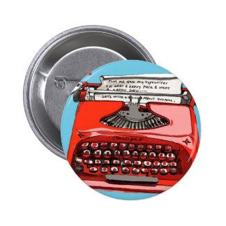Starlight Starfire Typewriter 2 Inch Round Button