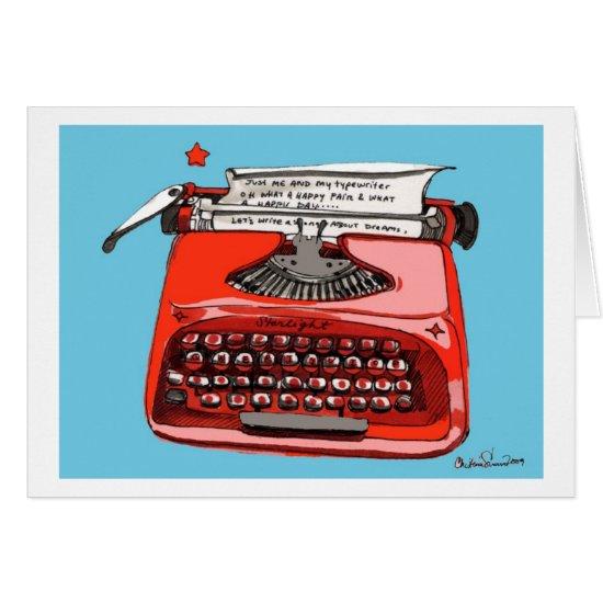Starlight Starfire Typewriter Card