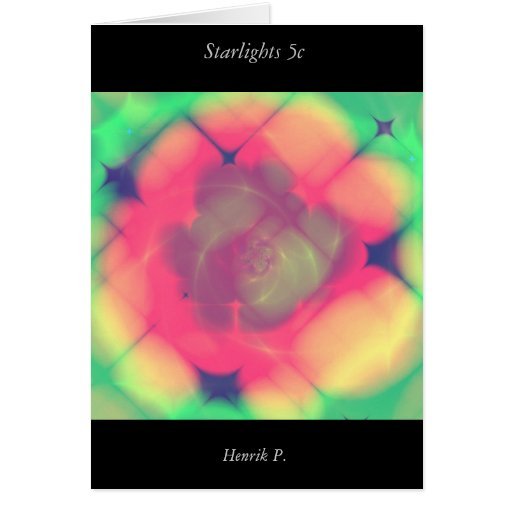 Starlights #5c (card) greeting card