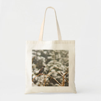 Starling bird in the Snow Tote Bag
