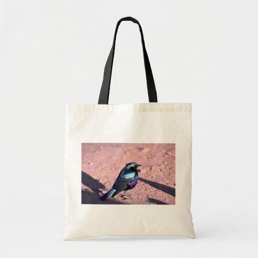 Starling brillante Azul-Espigado Bolsa Tela Barata