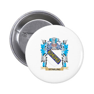 Starling Coat of Arms - Family Crest Button