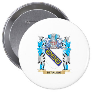 Starling Coat of Arms - Family Crest Pinback Button