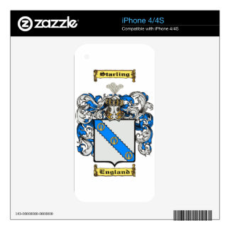 Starling iPhone 4S Decals