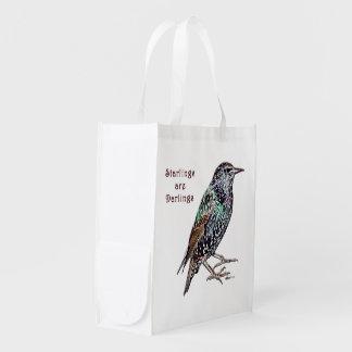 Starlings Are Darlings Market Totes