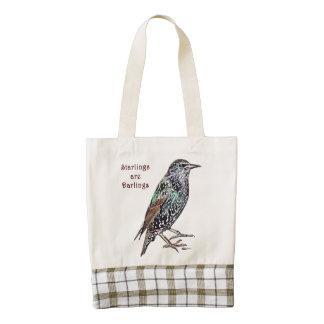 Starlings Are Darlings Zazzle HEART Tote Bag