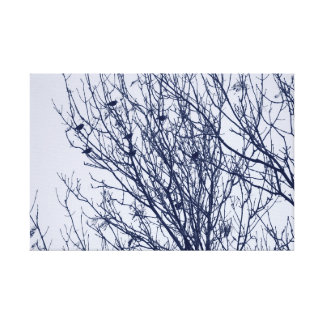 Starlings in a Tree Canvas Print
