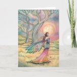 Starlit Dusk Fairy Card Watercolor Illustration