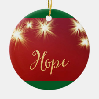 Starlit Hope Ceramic Ornament