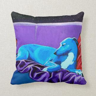 Starlit Lurcher cushion