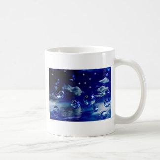 Starlit sky classic white coffee mug