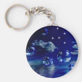 Starlit sky keychain