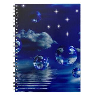 Starlit sky spiral note book