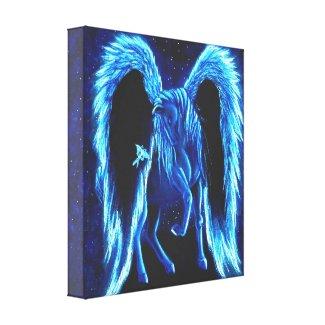 Starlit Stroll Pegasus Canvas Print