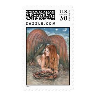 Starlit Tides - Cancer Postage Stamps