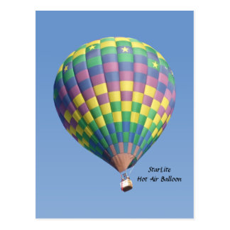 StarLite Hot Air Balloon Postcard