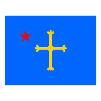 Starred Asturian flag Postcard