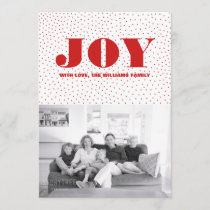 Starred Joy Holiday Photo Card | Red