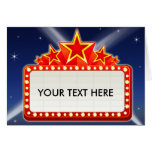 Starred Movie Marquee Customizable Greeting Card