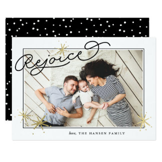 Starred Rejoice | Holiday Photo Card