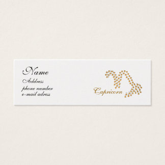 starred sign Capricorn Mini Business Card
