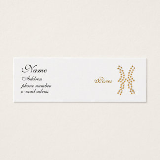 starred sign Pisces Mini Business Card