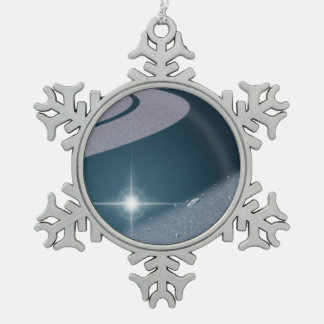 Starring Mittens Snowflake Pewter Christmas Ornament