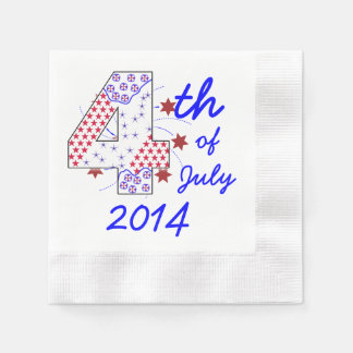 Starry 4th of July - Customizable Disposable Napkin