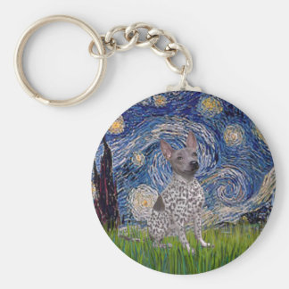 Starry-AmericanHairless-spotted.png Keychain