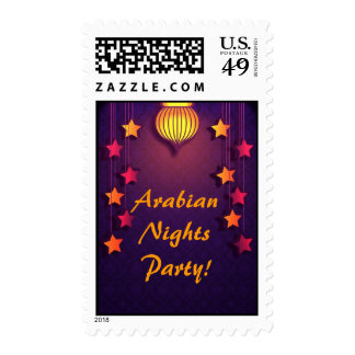 Starry Arabian Nights Party Postage Stamps