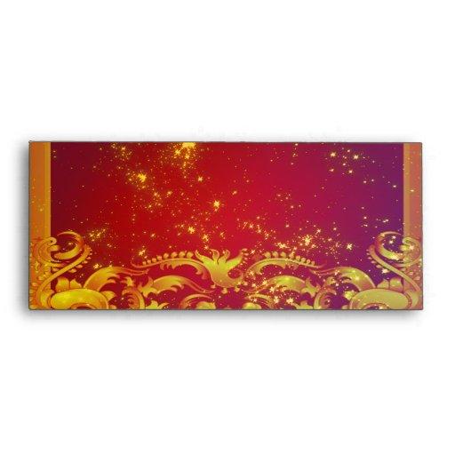 Starry Art Deco Set Envelope
