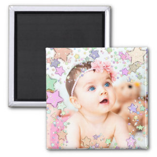 Starry Baby Photo Magnet