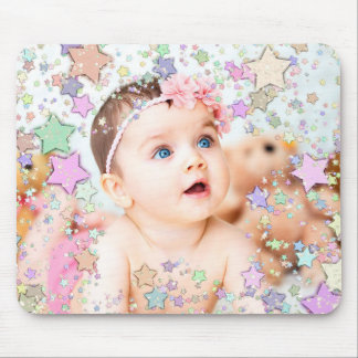 Starry Baby Photo Mouse Pad