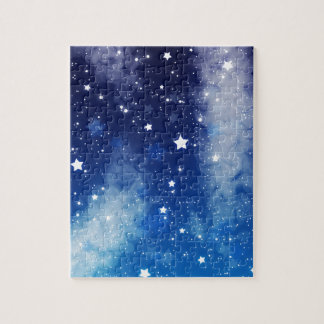 Starry Blue Night Sky Jigsaw Puzzle