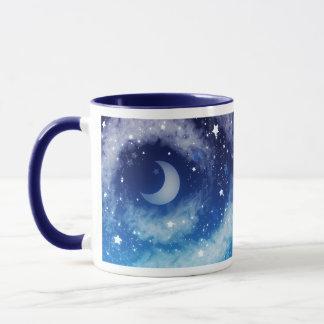 Starry Blue Night Sky Mug