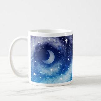 Starry Blue Night Sky Coffee Mugs