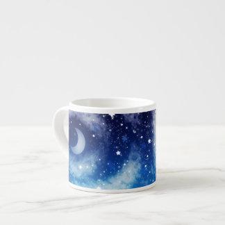 Starry Blue Night Sky Espresso Mugs