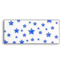 Starry Blue On White Envelope