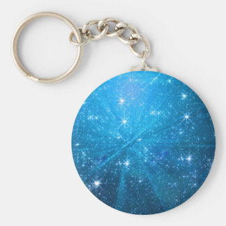 Starry blue sky keychain