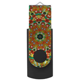 Starry Bold Kaleidoscope Swivel USB 2.0 Flash Drive
